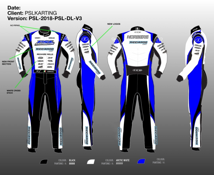 Copy - PSL Ricciardo kart 2018 custom SIZE/NAME/LOGOS suit