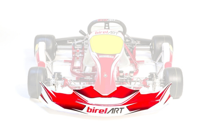 Birel ART FP7 front bumper stickers