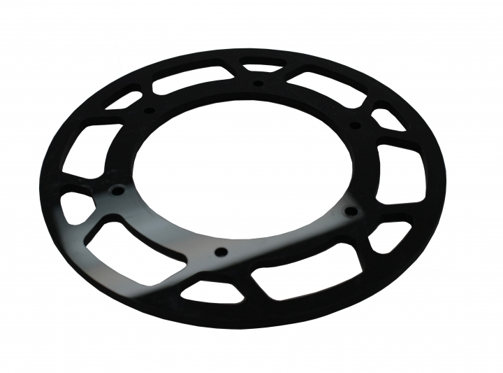 Composite sprocket guard