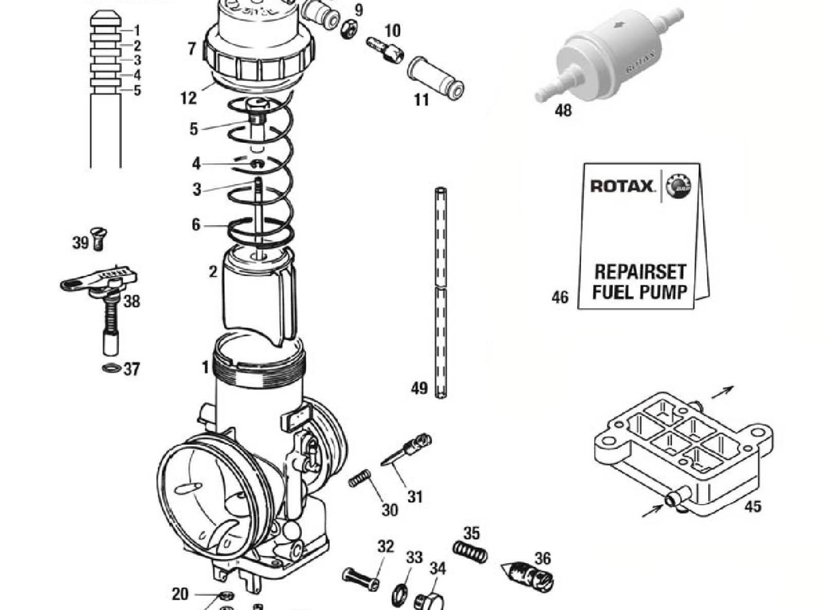 Carburetor Psl Karting Store Rotax Engine Diagram