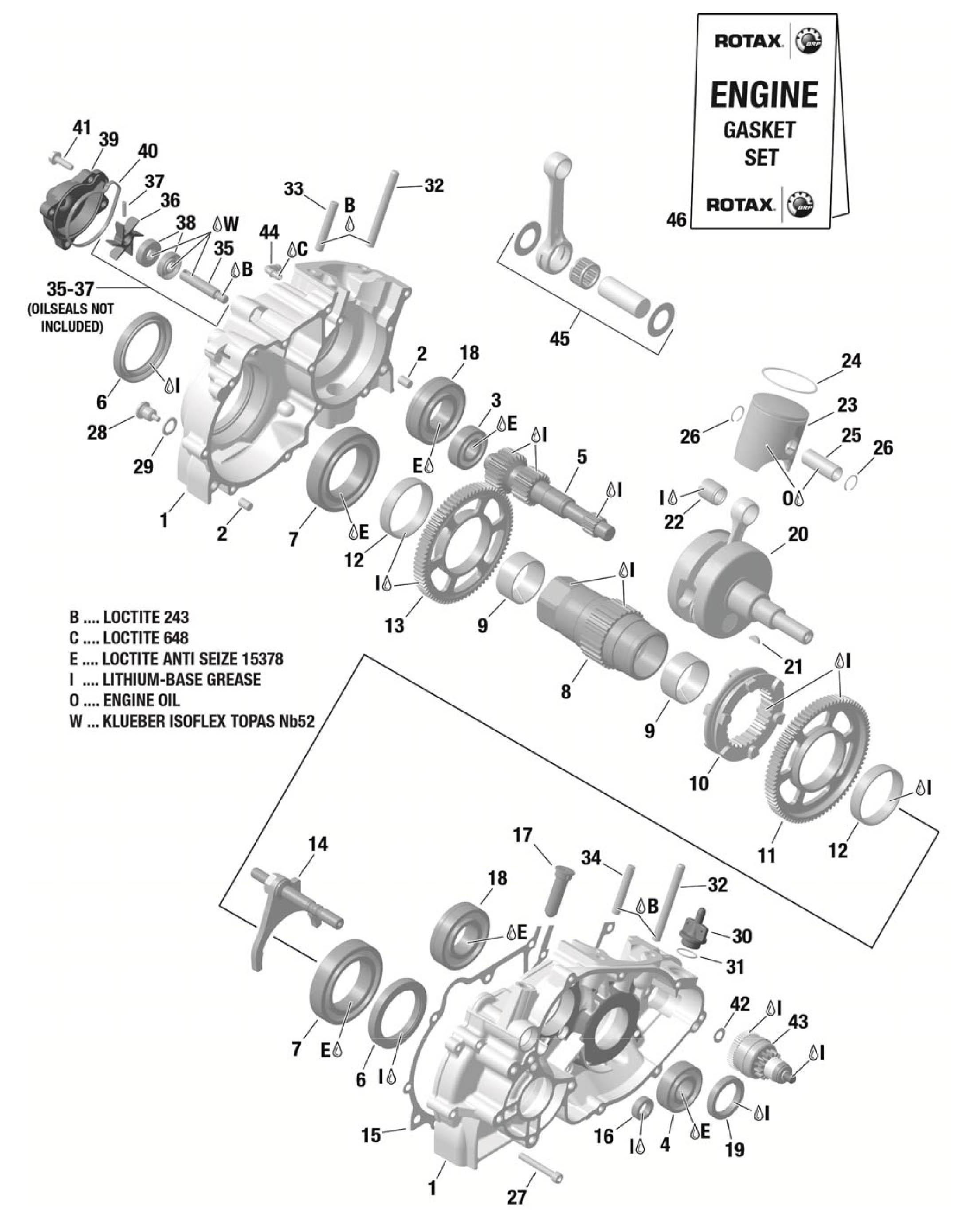 Crankcase Phil Giebler Racing Store Rotax Engine Diagram Price Desc